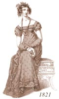 Ladies' 1821 costume
